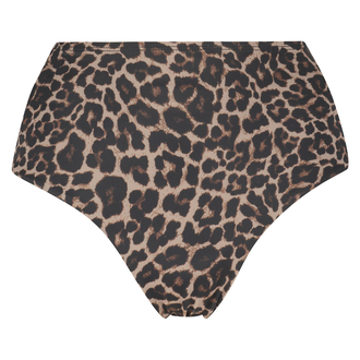 Hoog cheeky bikinibroekje Leopard, Beige