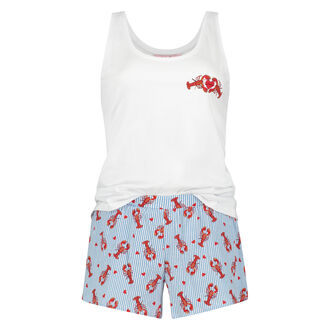 Korte pyjama set, Wit