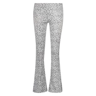Flared Velours Legging, Grijs