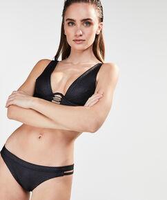 Niet-voorgevormde triangle beugel bikinitop Caged beauty, Zwart