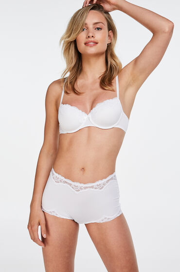 Hunkemoller Boxer Secret lace Wit
