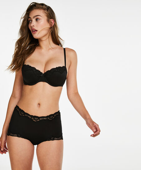 Boxer Secret lace, Zwart