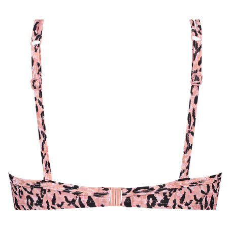 Voorgevormde beugel bikinitop Leopard Lady, Roze