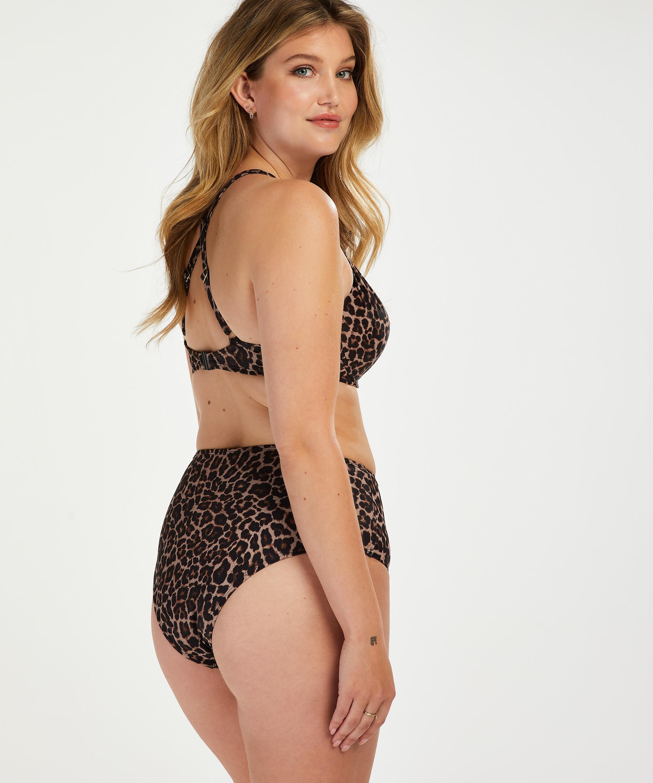 Voorgevormde beugel bikinitop Leopard, Beige, main