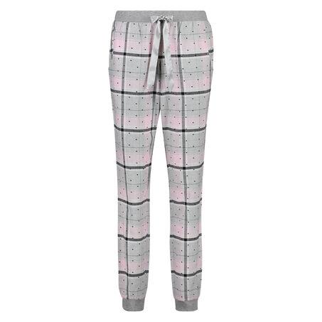 Pyjamabroek Check, Roze