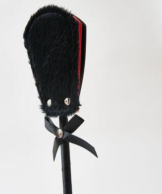 Zweep private Fake Fur, Zwart