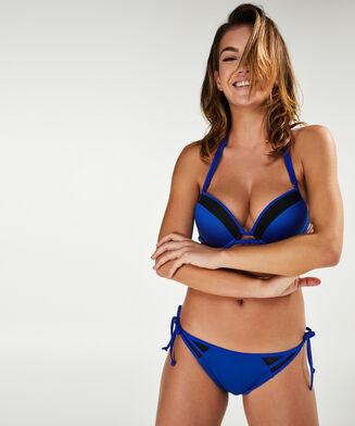Tanga bikinibroekje Fair Play, Blauw