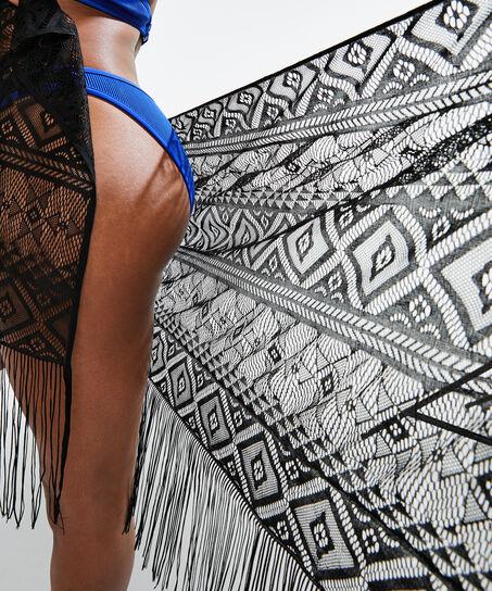 Pareo Crochet, Zwart