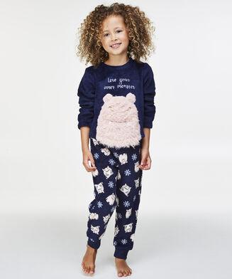 Fleece pyjamabroek Kids, Blauw