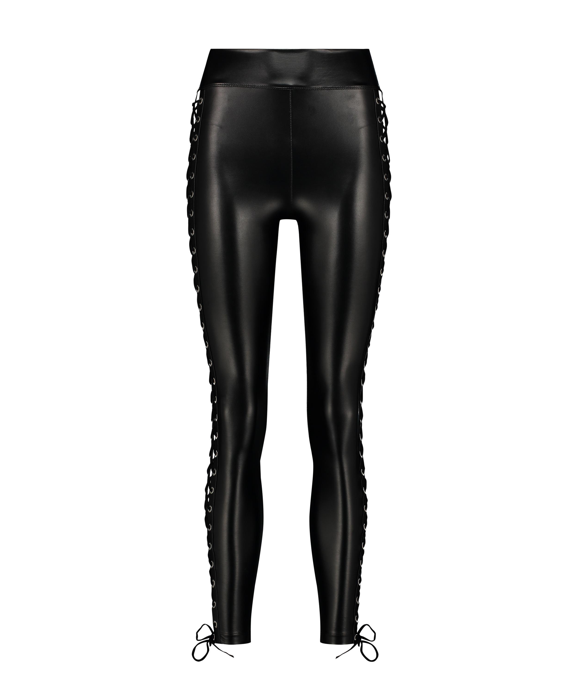 Legging Lace up, Zwart, main