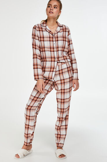 Hunkemöller Pyjamaset Twill Rood