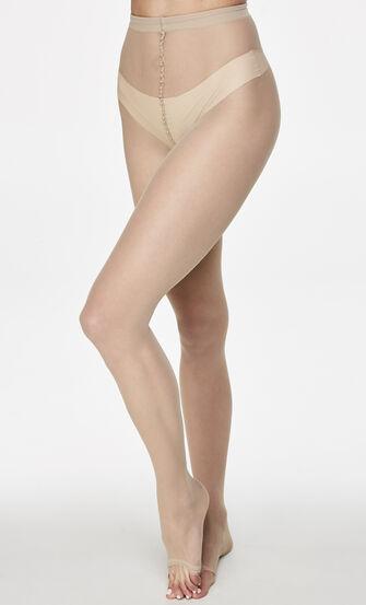 Panty zonder teen 15 Denier, Huidskleur