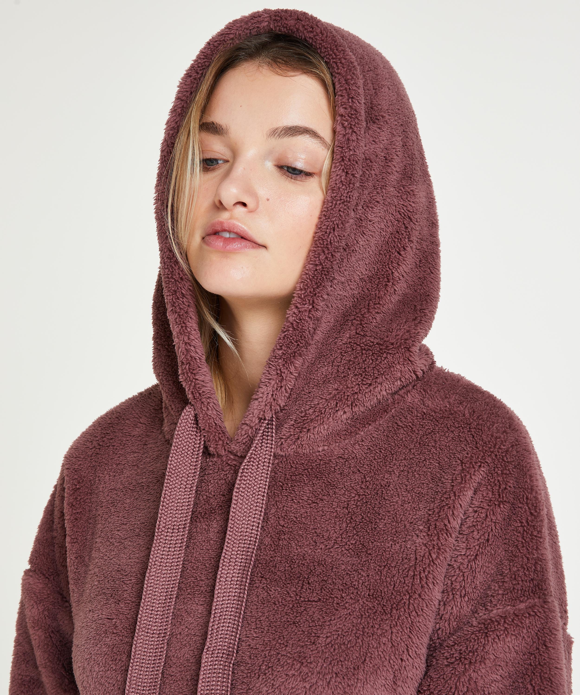 Snuggle Fleece Jurk Oodie, Roze, main