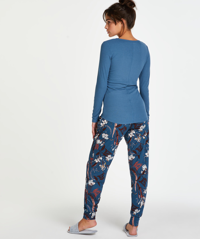 Pyjamabroek Jersey, Blauw, main