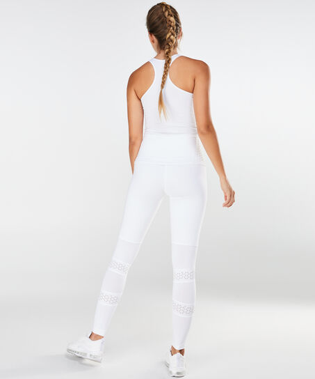 HKMX Hoge sportlegging Lasercut, Wit