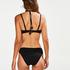 Voorgevormde beugel bikinitop Scallop Glam, Zwart