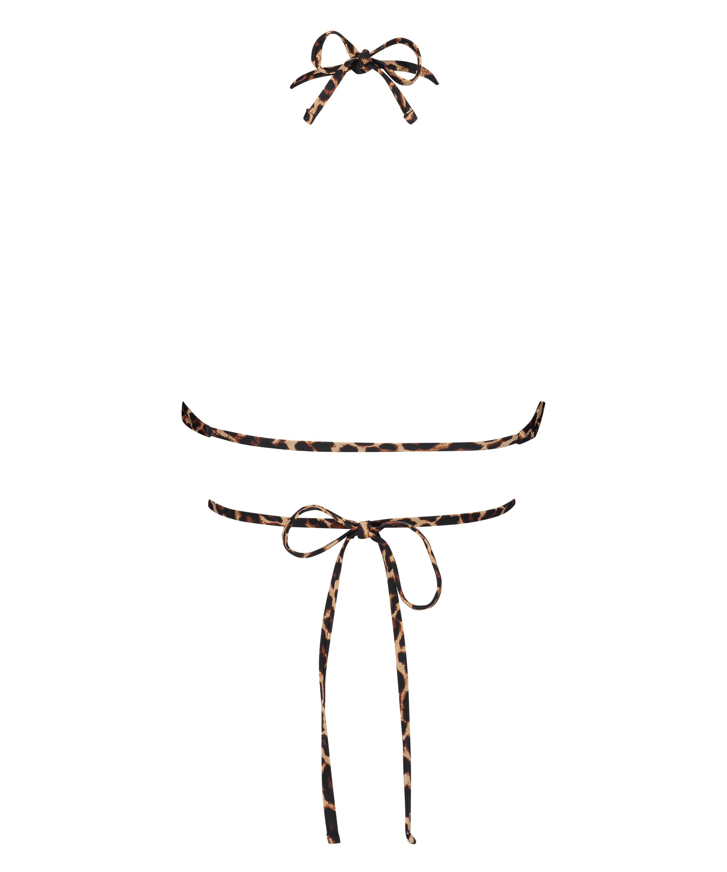 Voorgevormde triangle bikinitop Animal Wrap HKM x NA-KD, Bruin, main