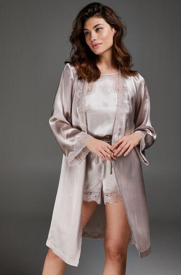 Hunkemöller Kimono zijde lace trim Roze