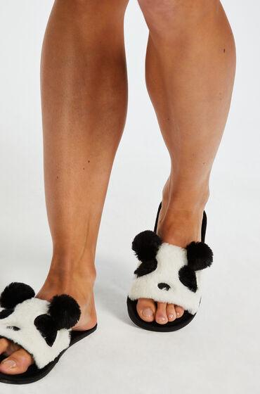 Hunkemöller Slippers Panda Zwart