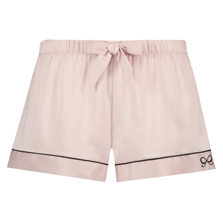 Pyjama short Satin, Roze, main