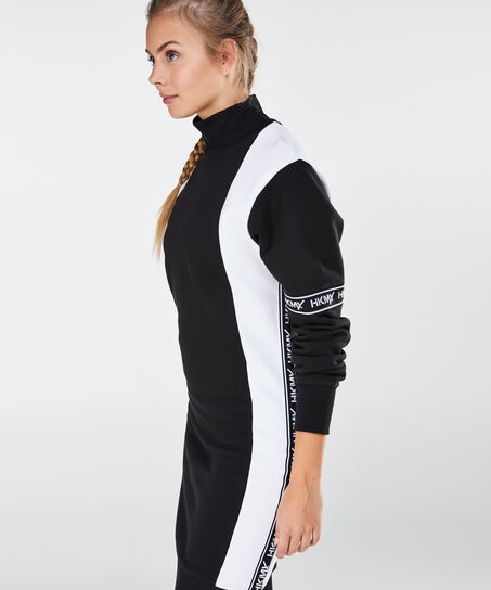 HKMX Sweatdress branded, Zwart