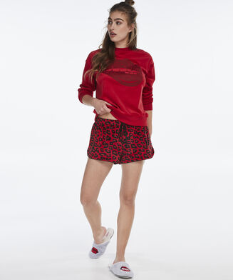 Short Velours, Rood
