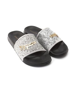 Slippers Glitter, Grijs