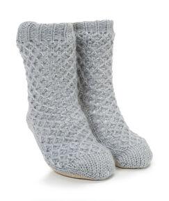 Image of Hunkemöller Lurex Sock Boot Grijs
