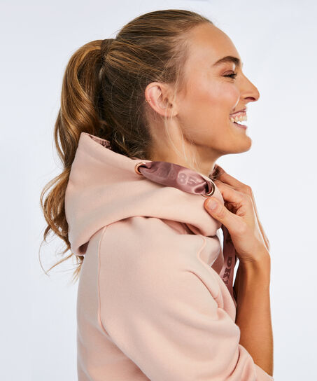 HKMX Hooded sweater Doutzen, Roze