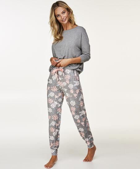 Lange pyjamaset, Grijs