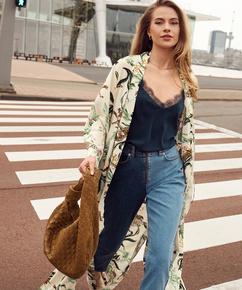 Lange kimono Leo, Roze