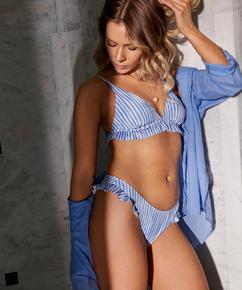 Strand blouse, Blauw