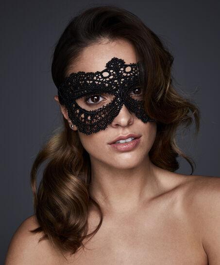 Oogmasker Private, Zwart