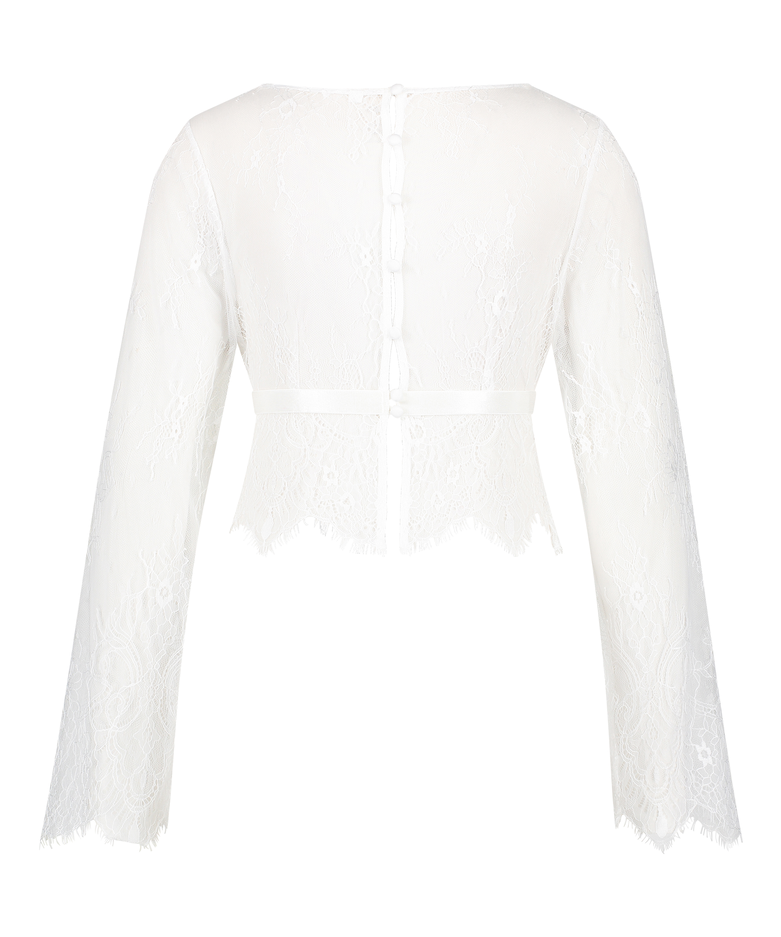 Top Allover Lace, Wit, main