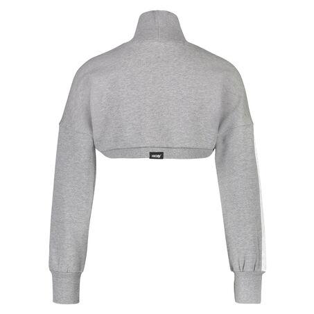 HKMX Sport croptop sweater, Grijs