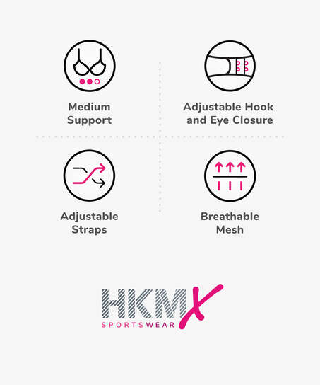 HKMX Sport bh The All Star Level 2, Grijs