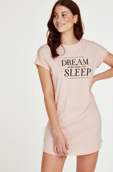 Hunkemoller Nachthemd korte mouwen Dream Roze