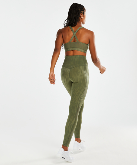 HKMX High waisted sportlegging Mojave, Groen