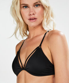 Triangle bikinitop Sunset Dreams, Zwart