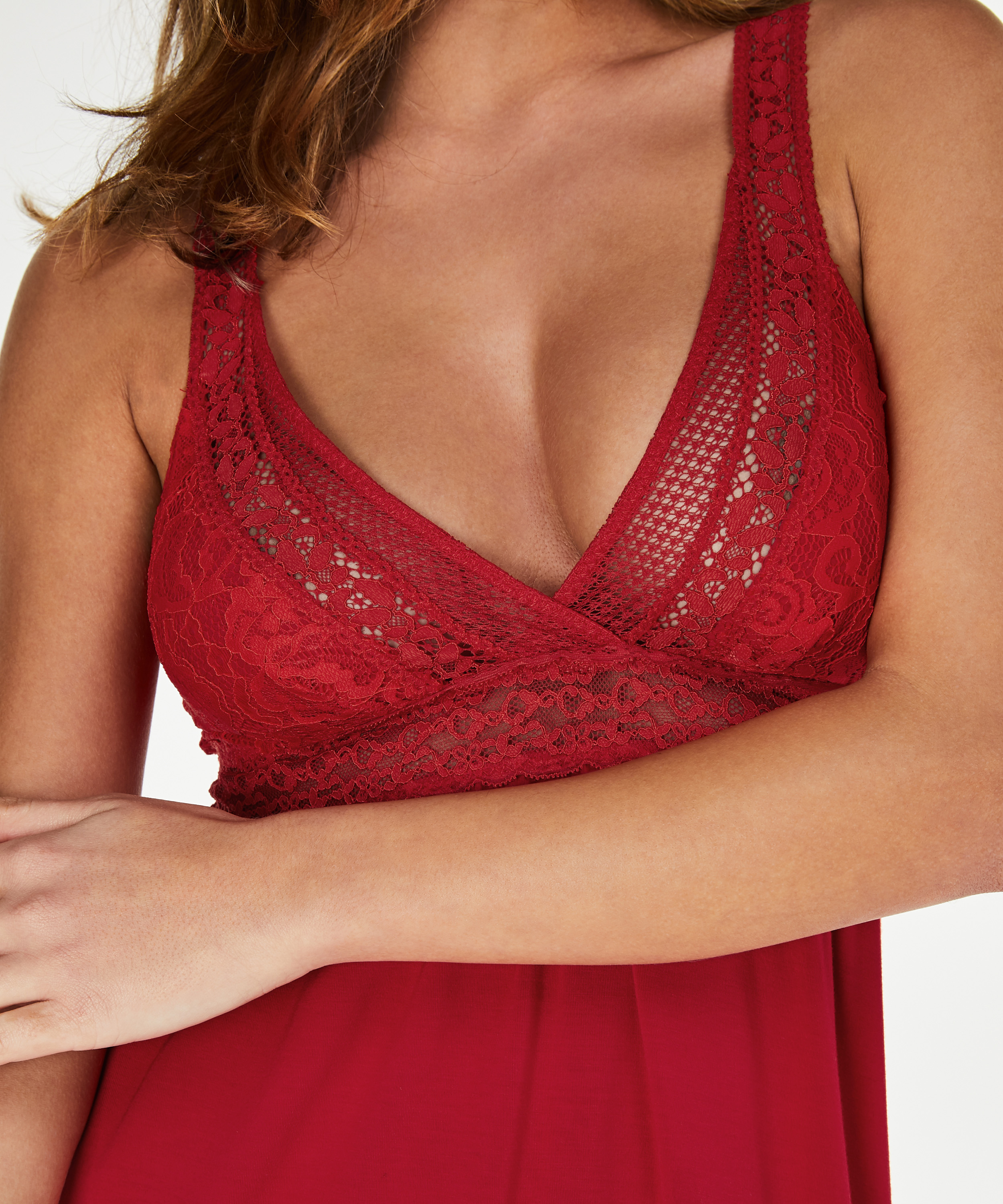Slipdress Graphic lace, Rood, main
