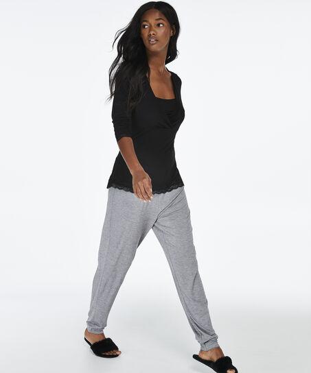Voedings pyjamaset, Zwart