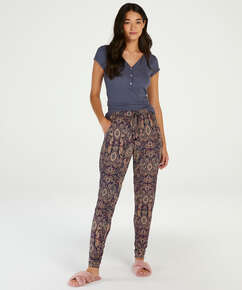 Pyjamabroek Multi Paisley, Blauw
