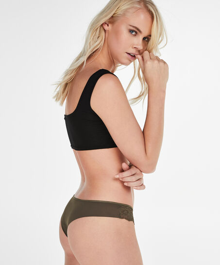 Invisible string Lace back, Groen