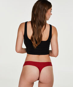 String Invisible lace front, Rood