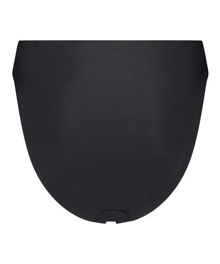 Hoog uitgesneden bikinibroekje Black HKM x NA-KD, Zwart