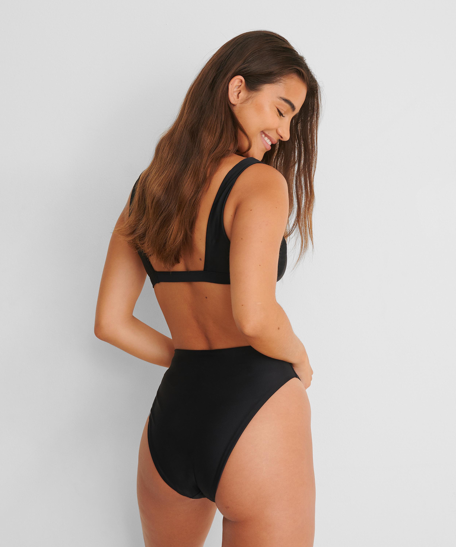 Hoog uitgesneden bikinibroekje Black HKM x NA-KD, Zwart, main