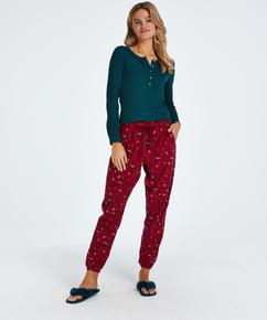 Pyjamabroek Twill, Rood