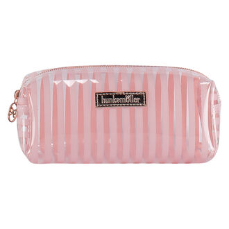 Make-up Tasje Stripe plastic, Roze