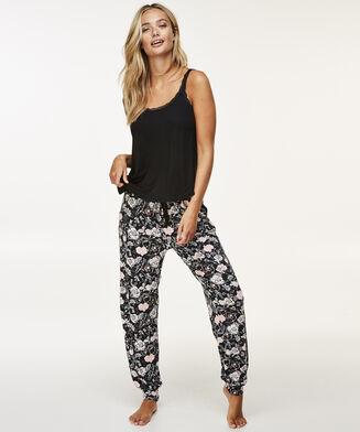 Pyjamabroek Loose fit, Zwart