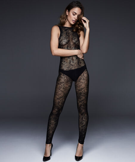 Panty Private Catsuit, Zwart